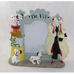 Cadre photo résine Cruella De Vil DISNEY STORE Les 101 dalmatiens 22 cm cm