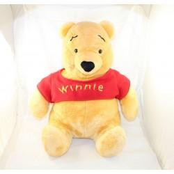 Grande peluche Winnie l'ourson DISNEY pull laine rouge Winnie 49 cm