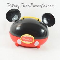 Boîte à goûter Mickey DISNEYLAND PARIS oreilles rouge et noir 24 cm