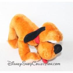 Peluche vintage Pluto ORLY JOUET DISNEY chien de Mickey marron 20 cm