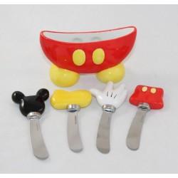 Ensemble de couteaux à beurre Mickey WALT DISNEY WORLD avec support céramique
