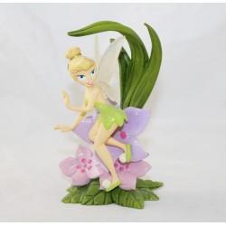 Figurine résine fée Clochette DISNEYLAND PARIS pétales de fleur 14 cm