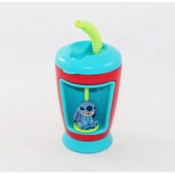 Gobelet à paille Stitch DISNEY STORE Lilo et Stitch avec figurine 18 cm