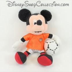 Peluche Mickey DISNEY NICOTOY football maillot orange ballon de foot 20 cm
