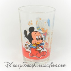 Verre Donald et Mickey DISNEY Babies vintage verre à moutarde