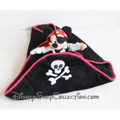 Chapeau Mickey Mouse DISNEYLAND PARIS pirate rouge et noir enfant 16 cm
