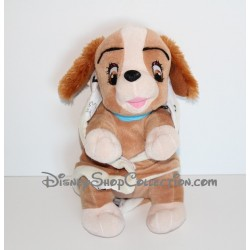 Peluche Lady DISNEY couverture La Belle et le Clochard chien TOY'S COMPANY 26 cm