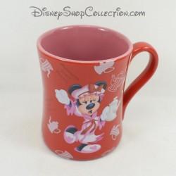 Mug Minnie DISNEYLAND PARIS Morning isn't pretty Minnie au réveil tasse ceramique rouge 12 cm