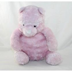 Peluche Winnie l'ourson DISNEY STORE Pooh rose pailleté brillant 25 cm