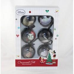 Set ornements L'étrange Noël de Mr Jack DISNEY STORE Sketchbook série de 6 boules de Noël