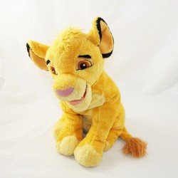 Peluche lion Simba DISNEYLAND PARIS Le Roi Lion jeune lion 30 cm