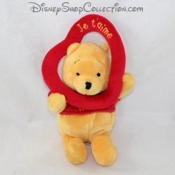 Peluche Winnie l'ourson NICOTOY Disney coeur Je t'aime