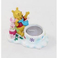 Photophore Winnie et Porcinet DISNEY Winnie l'ourson Noël chauffe plat 10 cm