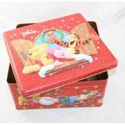 Boîte à biscuits Winnie l'ourson DISNEY Noël Tigrou Porcinet Bourriquet 22 cm