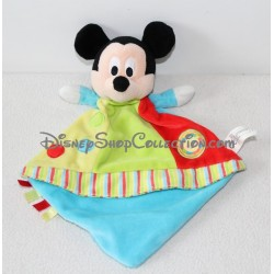 Doudou plat Mickey DISNEY NICOTOY Circus cirque lion étiquettes 28 cm