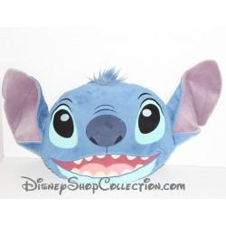 Coussin tête Stitch DISNEY STORE Lilo et Stitch bleu 36 cm