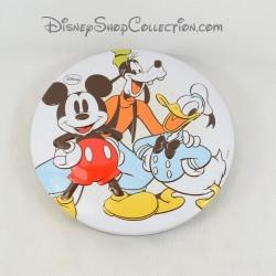 Boite en métal ronde DISNEY Mickey Dingo Donald en relief boite à biscuit 3D 18 cm