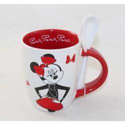 Mug et cuillère Minnie DISNEYLAND PARIS Parisienne tasse Disney 10 cm