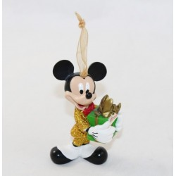 Ornement Mickey DISNEY décoration à suspendre smocking doré cadeau de Noël