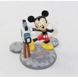 Figurine en résine Mickey WALT DISNEY STUDIOS camera pavés 9 cm