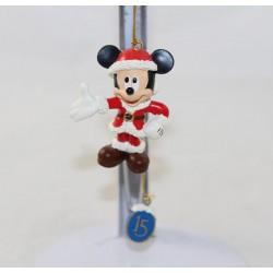 Décoration à suspendre Mickey DISNEYLAND PARIS ornement Mickey Père Noël 15eme anniversaire