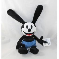 Peluche lapin Oswald DISNEY PARKS The lucky rabbit le lapin chanceux noir bleu 36 cm NEUF