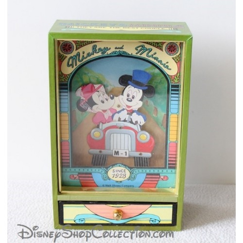ancienne boite musique trousselier mickey minnie it 39 s a small wor. Black Bedroom Furniture Sets. Home Design Ideas