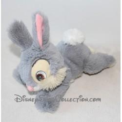 Plush Rabbit Thumper DISNEYLAND PARIS Lying Gray Bambi 24 cm
