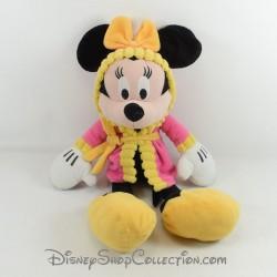 Plush Minnie DISNEY PTS SRL bathrobe dressing gown pink yellow 43 cm