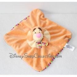 Doudou plat Tigrou DISNEY BABY écharpe rayée marionnette 23 cm