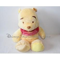 Peluche Winnie l'ourson NICOTOY pied satin et pied vichy Disney 35 cm