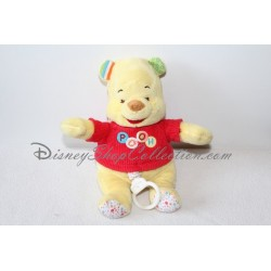Peluche musicale Winnie l'ourson DISNEY BABY Pooh ronds 25 cm