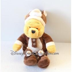 Plush Winnie the Pooh DISNEYLAND PARIS dressed as a bear 25 cm Brown