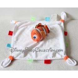 Doudou plat poisson Nemo DISNEY STORE Le monde de Némo blanc 30 cm