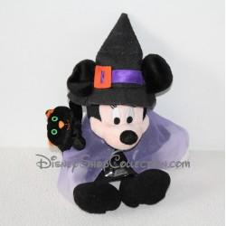 Peluche Minnie Halloween DISNEYLAND PARIS déguisée en sorcière 28 cm