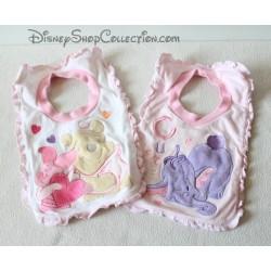 Winnie the Pooh DISNEY STORE lot of 2 bibs girl baby bib