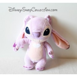 Plush Angel DISNEYLAND LILO and stitch mauve heart white Disney 20 cm
