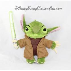 Peluche Stitch DISNEY Star Wars Maitre Yoda vert sabre 25 cm