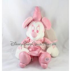 Peluche Minnie fée DISNEY STORE rose et blanche 45 cm