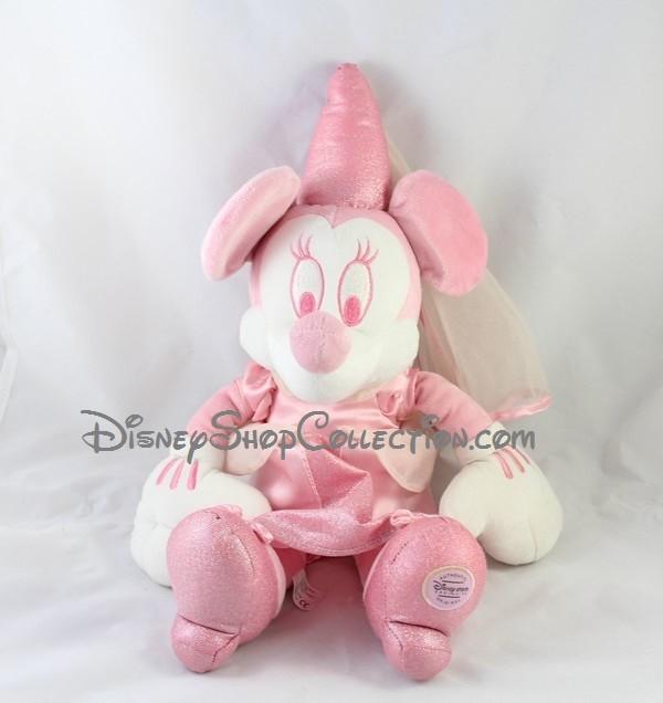 Peluche Minnie fée DISNEY STORE rose et blanche 45 cm - DisneyShopC...