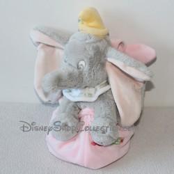 Peluche éléphant Dumbo DISNEY STORE Dumbo sac rose 23 cm
