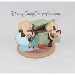 Figurine chats siamois CLASSICS DISNEY STORE La Belle et le clochard pvc 10 cm