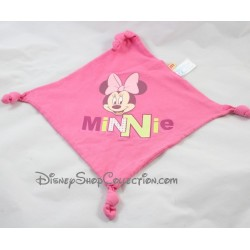 Doudou plat Minnie DISNEY CARREFOUR rose carré 4 noeuds