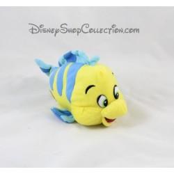 Peluche poisson Polochon DISNEY La Petite Sirène jaune bleu 20 cm