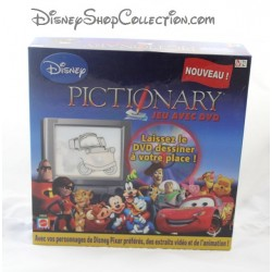 DISNEY MATTEL Pictionary game with dvd 7 years and +.