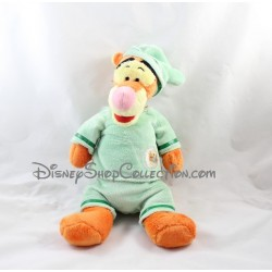 Peluche Tigrou DISNEY NICOTOY pyjama vert bonnet 34 cm
