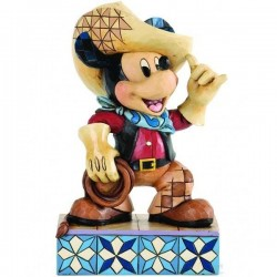 Figurine cowboy Mickey DISNEY TRADITIONS Roundup Showcase collection
