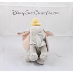 Peluche éléphant Dumbo DISNEY STORE Dumbo gris col blanc 21 cm
