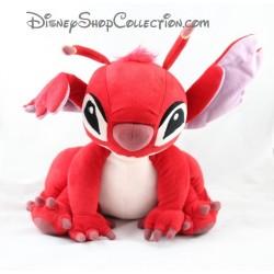 Peluche Leroy DISNEYLAND PARIS Lilo et Stitch assis rouge Disney 27 cm