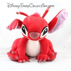 Peluche Leroy DISNEYLAND PARIS Lilo et Stitch assis rouge Disney 30 cm